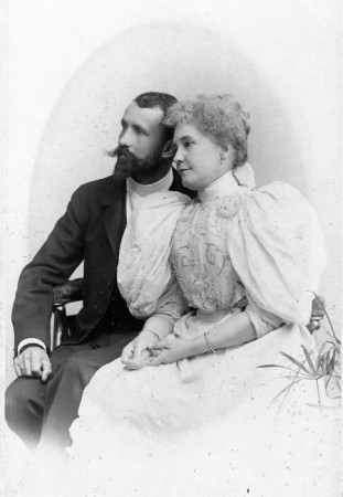 Adalbert and Eva Fenyes wedding portrait, Budapest, 1896